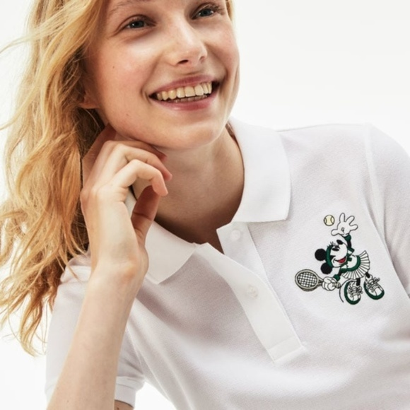 Lacoste Tops - Lacoste Disney Minnie Mouse Embroidery Polo Shirt